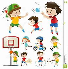 Doing Different Types Of Sports Stock Vector