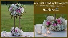 diy tall geometric gold stand modern wedding centerpiece tall glam centerpiece diy tutorial