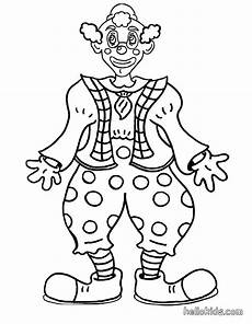 circus coloring pages smiling clown