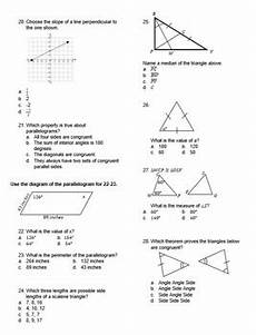 geometry math worksheets for high school 814 geometry test basics for high school editable by rise run