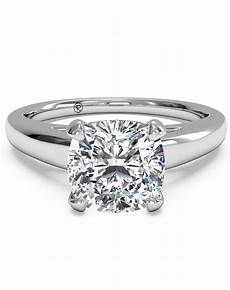 ritani solitaire diamond tulip cathedral engagement ring in 14kt white gold for a princess