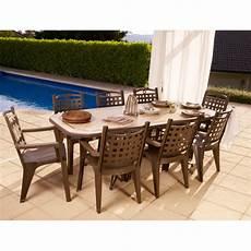 grosfillex salon de jardin quot amalfi quot bronze 8 fauteuils