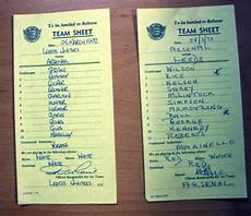 leeds united v arsenal march 1972 signed team sheets national football collection