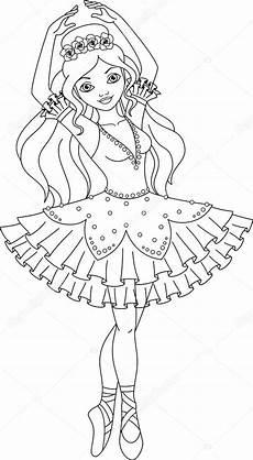 ballerina coloring page stock vector 169 malyaka 75102519