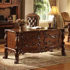 home office furniture wood traditional antique solid carved wood office desk table