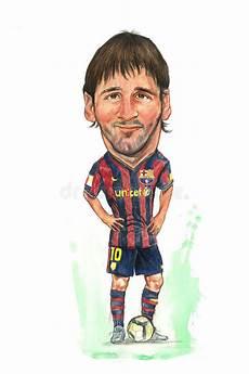 Messi Karikatur Redaktionelles Stockfoto Illustration