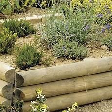 Bordures De Jardin En Bois Retenue De Terre 224 Planter Sauvage Bois Naturel H 60 X L