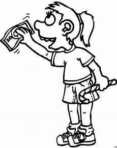 Comic Malvorlagen Maedchen Kauft Suessigkeiten Ausmalbild Malvorlage Comics