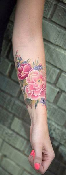 Unterarm Blume - bunte aquarell blume unterarm ideen f 252 r frauen