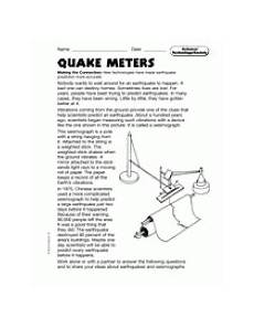 science technology worksheet 12409 science technology and society quake meters teachervision