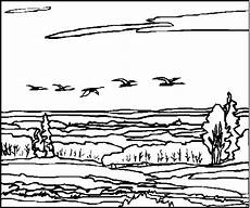 Malvorlagen Landschaften Gratis Zip Ziehvoegel Ausmalbild Malvorlage Landschaften