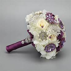 handmade fashion wedding brides bouquet brooch crystal