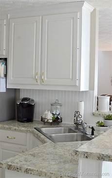 how to install a diy beadboard backsplash kitchen makeover
