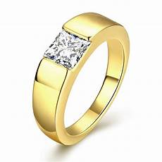 megrezen engagement ring stone men cubic zirconia wedding ring mens gold rings with stone bijoux