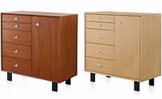 nelson basic cabinet 5 drawers with door hivemodern