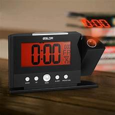 rotatable digital wall projection clock with large screen display date time temperature