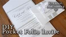 how to make your own modern pocket folio wedding invitations diy invit