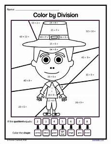 color by number worksheets for 3rd grade 16146 thanksgiving color by number third grade color by multiplication and rounding