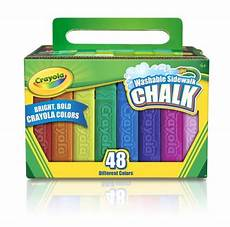 crayola washable sidewalk chalk 48 assorted bright colors