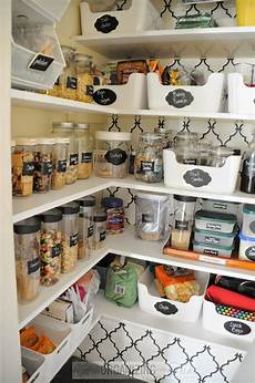 inside the small walk in kitchen pantry
