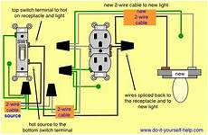 wiring diagram to add a light fixture to a switched receptacle home improvement diy pinterest