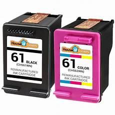 2 pk 61 black color ink cartridges for hp deskjet 1000