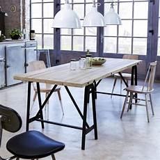 Table A Manger Sans Chaises Table En M 233 Tal Et Pin 240x90 Eliot