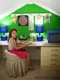 kids craft room makeover driven by decor