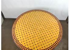 table marocaine en mosa 239 que jaune et fer forg 233