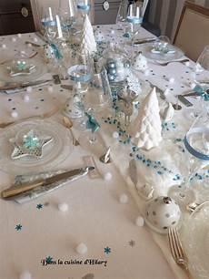 deco noel bleu et blanc dans la cuisine d hilary ma table de no 235 l polaire en bleu