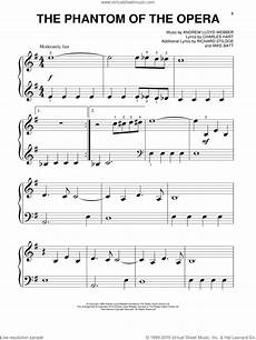 phantom of the opera sheet music piano webber the phantom of the opera sheet music for piano