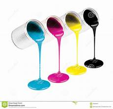 images of a paintbrush to color cmyk ink color paints in cans stock image image of magenta paint 23528421