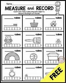 non standard measurement length worksheets for kindergarten grade one measurement