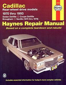 electric and cars manual 1992 cadillac seville auto manual sedan deville coupe brougham seville repair manual 1970 1993
