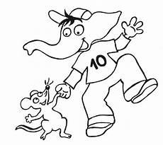 Malvorlagen Elefant Quiz Kostenlose Malvorlage Maskottchen Aus Kinderzeitschriften