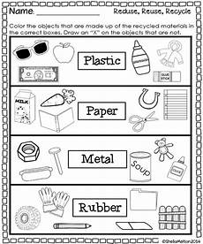 sorting materials sheet 7838 5 best images of what can we recycle worksheet reduce reuse recycle activity preschool