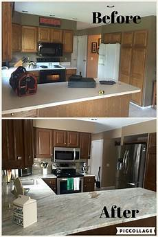 Kitchen Transformations Before And After by Kitchen Remodel Brown Quartzite Stainless Steel