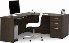 embassy dark chocolate 66 quot l shaped desk from bestar coleman furniture