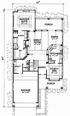 narrow lot luxury house plans plan w31137d cottage hill country vacation luxury