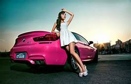 Wallpaper Machine Auto Girl Model Asian Car BMW M6