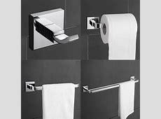 Modern Brass Chrome Finish Bathroom Accessory Sets, 4