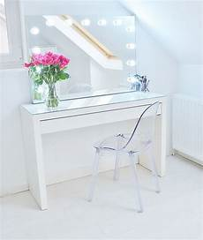 Makeup Storage Ideas Ikea Malm Makeup Vanity With Mirror