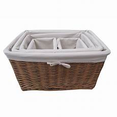 Basket Storage by Buy Wicker Lined Storage Basket From The Basket