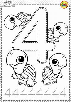number 4 preschool printables free worksheets and coloring pages for kids learning numbers