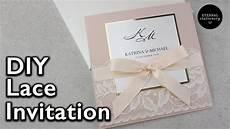 elegant lace invitation diy wedding invitations