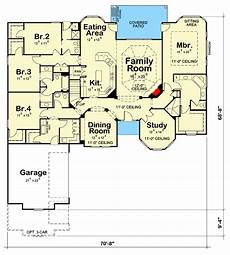 four level split house plans 4 bed traditional house plan with split bedrooms 42637db