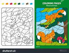 wood animals coloring pages 17194 wood animals coloring page squirrels stock vector 460725226