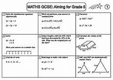 multiplication worksheets ks4 4464 gcse maths revision sle sheet aiming for grade 5 teaching resources