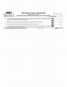 form 8923 mine rescue team training credit 2012 free