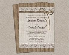 rustic burlap wedding invitation diy printable rustic